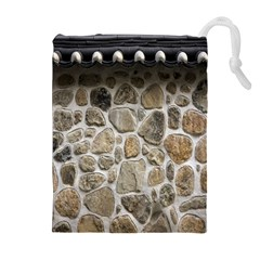 Roof Tile Damme Wall Stone Drawstring Pouches (Extra Large)