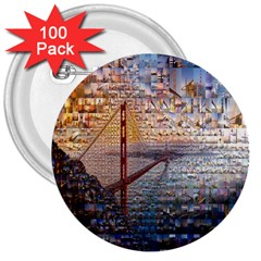 San Francisco 3  Buttons (100 Pack)