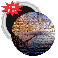 San Francisco 3  Magnets (100 Pack)
