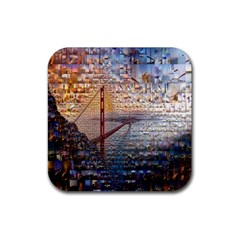 San Francisco Rubber Square Coaster (4 Pack)
