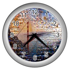 San Francisco Wall Clocks (silver)