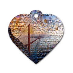 San Francisco Dog Tag Heart (Two Sides)