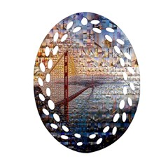 San Francisco Oval Filigree Ornament (Two Sides)