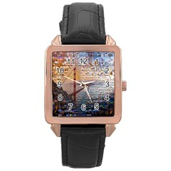 San Francisco Rose Gold Leather Watch