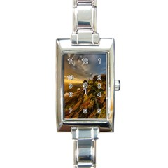 Scotland Landscape Scenic Mountains Rectangle Italian Charm Watch