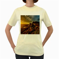 Scotland Landscape Scenic Mountains Women s Yellow T Shirt