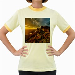 Scotland Landscape Scenic Mountains Women s Fitted Ringer T-Shirts