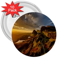 Scotland Landscape Scenic Mountains 3  Buttons (10 Pack)