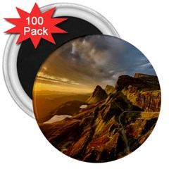 Scotland Landscape Scenic Mountains 3  Magnets (100 pack)