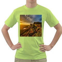 Scotland Landscape Scenic Mountains Green T-Shirt