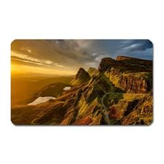 Scotland Landscape Scenic Mountains Magnet (Rectangular)