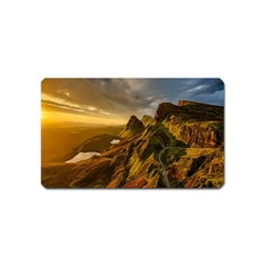 Scotland Landscape Scenic Mountains Magnet (name Card)