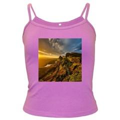 Scotland Landscape Scenic Mountains Dark Spaghetti Tank