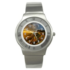 Scotland Landscape Scenic Mountains Stainless Steel Watch