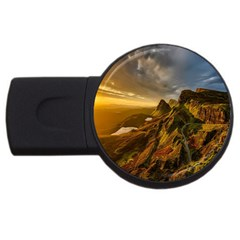 Scotland Landscape Scenic Mountains Usb Flash Drive Round (4 Gb)
