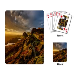 Scotland Landscape Scenic Mountains Playing Card