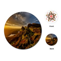 Scotland Landscape Scenic Mountains Playing Cards (Round)