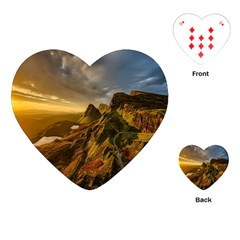 Scotland Landscape Scenic Mountains Playing Cards (Heart)