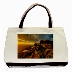 Scotland Landscape Scenic Mountains Basic Tote Bag