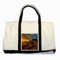 Scotland Landscape Scenic Mountains Two Tone Tote Bag