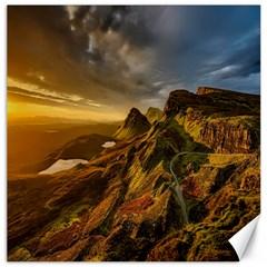 Scotland Landscape Scenic Mountains Canvas 16  x 16