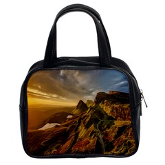 Scotland Landscape Scenic Mountains Classic Handbags (2 Sides)
