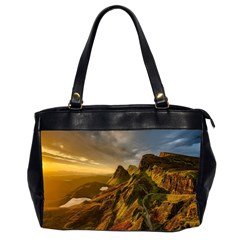 Scotland Landscape Scenic Mountains Office Handbags (2 Sides)