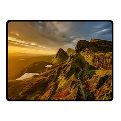Scotland Landscape Scenic Mountains Fleece Blanket (Small)