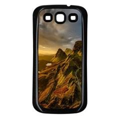 Scotland Landscape Scenic Mountains Samsung Galaxy S3 Back Case (Black)