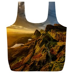 Scotland Landscape Scenic Mountains Full Print Recycle Bags (L)