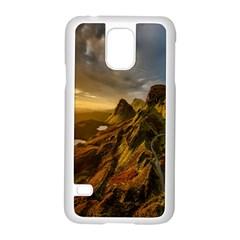 Scotland Landscape Scenic Mountains Samsung Galaxy S5 Case (White)