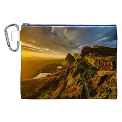 Scotland Landscape Scenic Mountains Canvas Cosmetic Bag (XXL)
