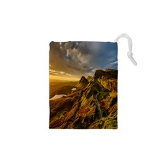 Scotland Landscape Scenic Mountains Drawstring Pouches (xs)