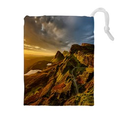 Scotland Landscape Scenic Mountains Drawstring Pouches (Extra Large)