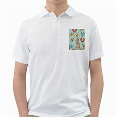 Seahorse Seashell Starfish Shell Golf Shirts