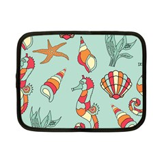 Seahorse Seashell Starfish Shell Netbook Case (Small)