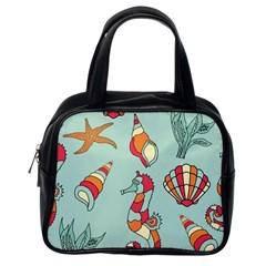 Seahorse Seashell Starfish Shell Classic Handbags (One Side)