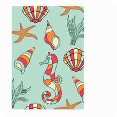 Seahorse Seashell Starfish Shell Large Garden Flag (two Sides)