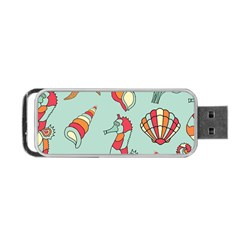 Seahorse Seashell Starfish Shell Portable USB Flash (One Side)