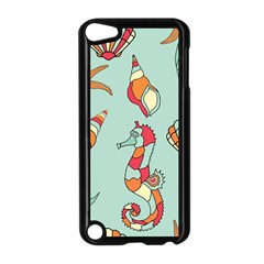 Seahorse Seashell Starfish Shell Apple iPod Touch 5 Case (Black)