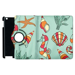 Seahorse Seashell Starfish Shell Apple Ipad 3/4 Flip 360 Case