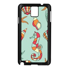 Seahorse Seashell Starfish Shell Samsung Galaxy Note 3 N9005 Case (black)