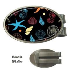 Seahorse Starfish Seashell Shell Money Clips (Oval)