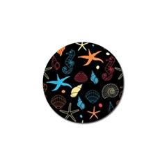 Seahorse Starfish Seashell Shell Golf Ball Marker (4 Pack)