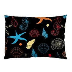 Seahorse Starfish Seashell Shell Pillow Case