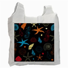 Seahorse Starfish Seashell Shell Recycle Bag (one Side)