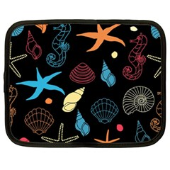 Seahorse Starfish Seashell Shell Netbook Case (XXL)