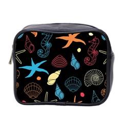 Seahorse Starfish Seashell Shell Mini Toiletries Bag 2 Side
