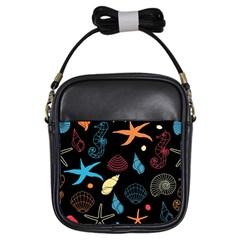 Seahorse Starfish Seashell Shell Girls Sling Bags