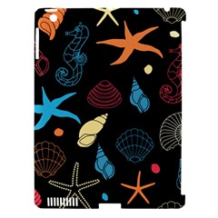 Seahorse Starfish Seashell Shell Apple iPad 3/4 Hardshell Case (Compatible with Smart Cover)